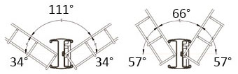 Angle poteau cloture