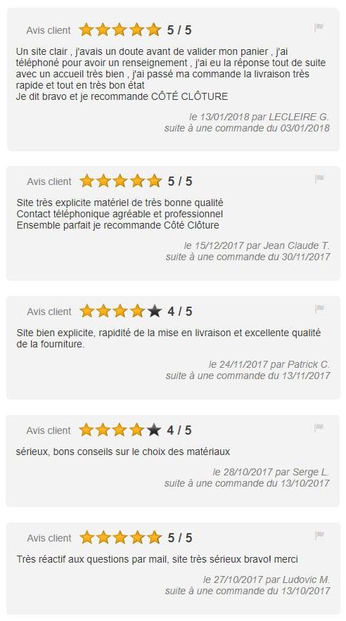 Avis du site Côté Clôture