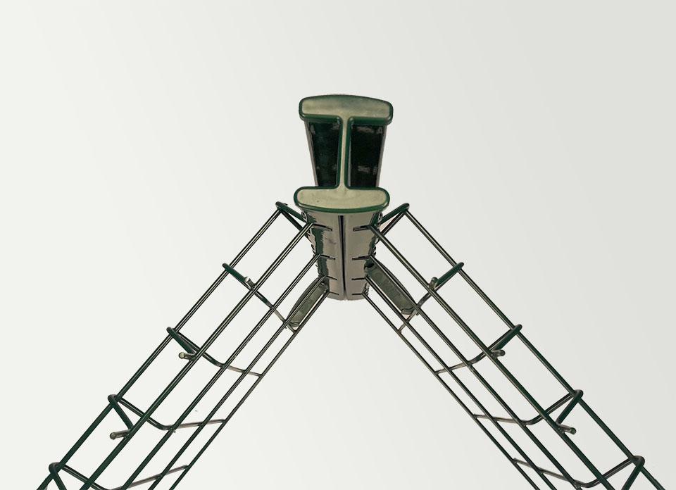 poteau angle cloture