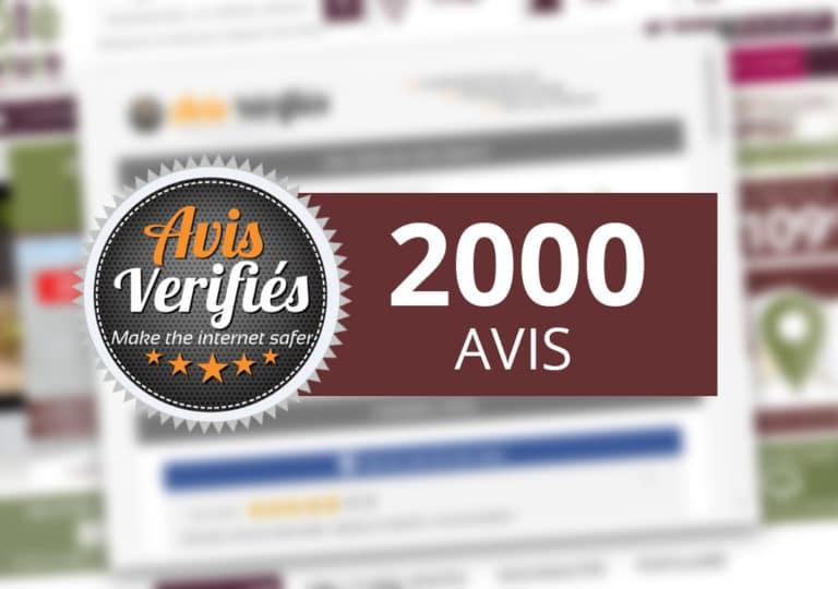 2000 avis clients (et ça monte) !